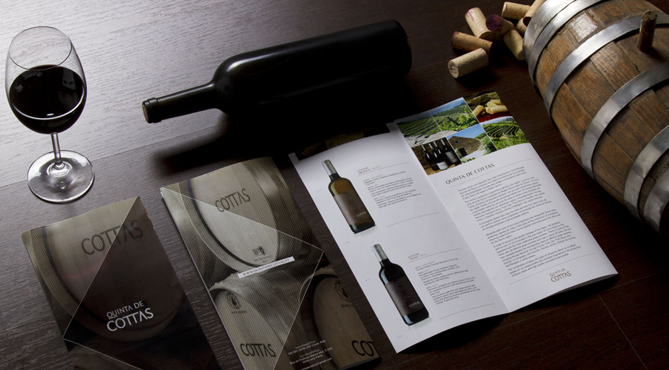 Design gráfico folheto quinta de cottas